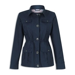 Jack Murphy Lacey Cotton Waterproof Jacket in Navy