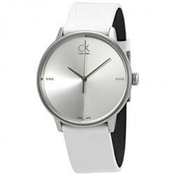 CALVIN KLEIN Accent Diamond Silver Dial Men's Watch