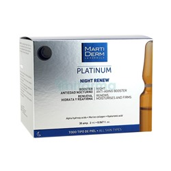 Night Renew Platinum Martiderm 30 Ampollas