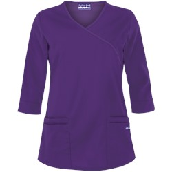 Butter-Soft Scrubs by UA™ 3/4 Sleeve Mock Wrap Top