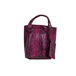 PELLE SHOPPER SERPIENTE/2 MAGENTA