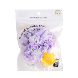 CLEAN&BEAUTY Flower shower ball Мочалка для душа