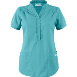 Butter-Soft Scrubs by UA™ Mandarin Collar 4-Pocket Top