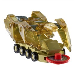 Screechers Wild Level 2 - Komoto Flipping Morphing Toy Car Vehicle, 4'' x 2'', Gold