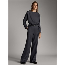 STRAIGHT FIT JACQUARD TROUSERS