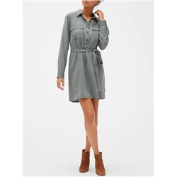Patch Pocket Shirtdress
