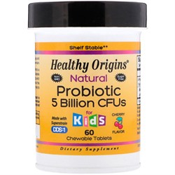 Healthy Origins, Natural Probiotic, Kids, Cherry Flavor, 5 Billion CFU, 60 Chewable Tablets