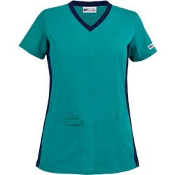 UA Best Buy Scrubs V-Neck Top w/ Knit Side Panels