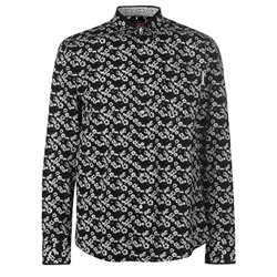 Pierre Cardin, Floral Long Sleeve Shirts Mens