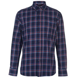 Pierre Cardin, Long Sleeve Check Camisa Hombre