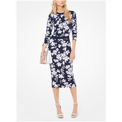 MICHAEL MICHAEL KORS Floral Stretch-Viscose Pullover