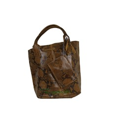 PELLE SHOPPER SERPIENTE/2 MARRON